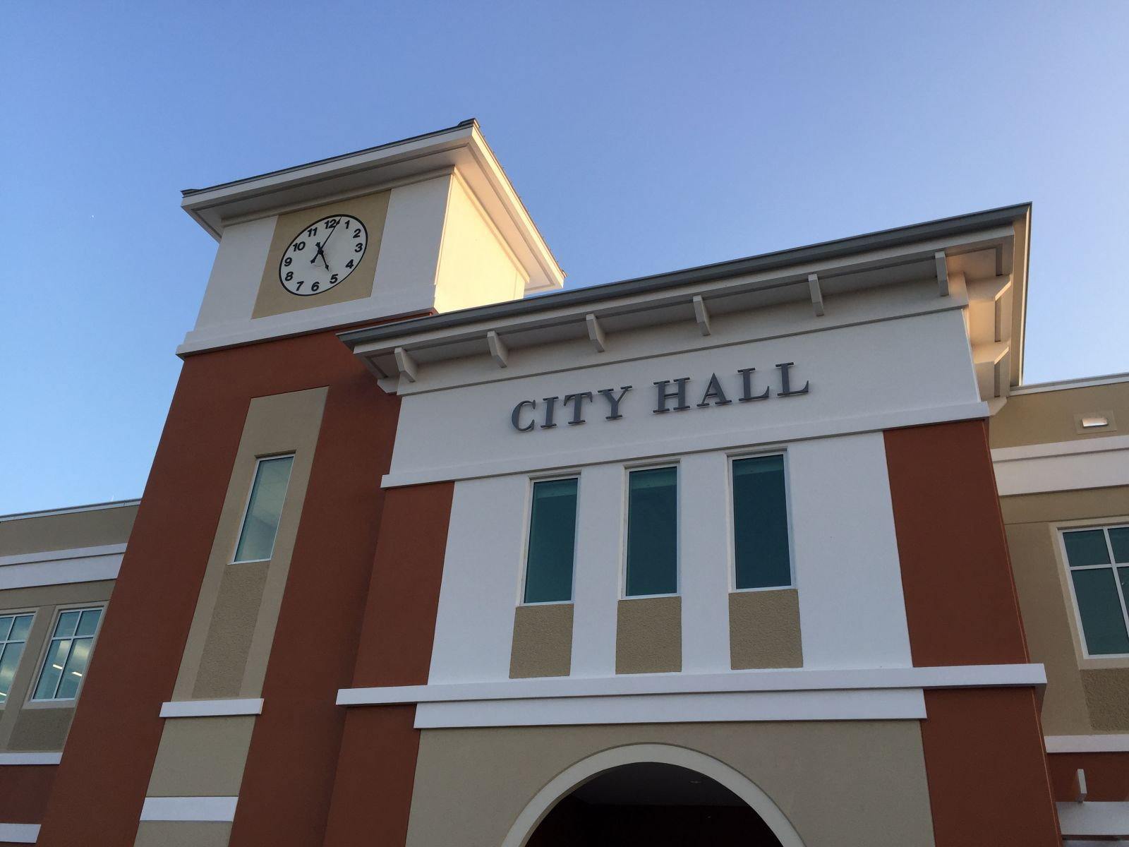 Palm Coast City Hall at ribbon cutting