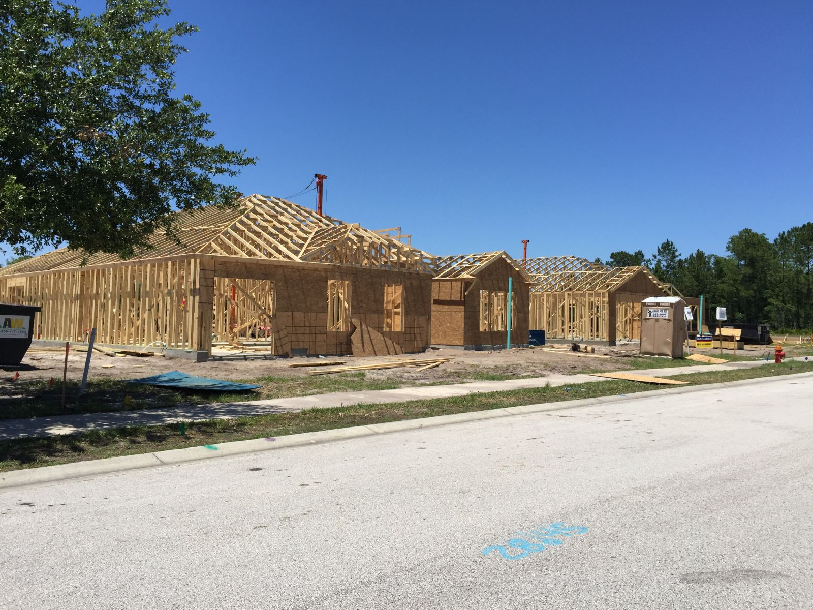 New home construction in Palm Coast, Fla.