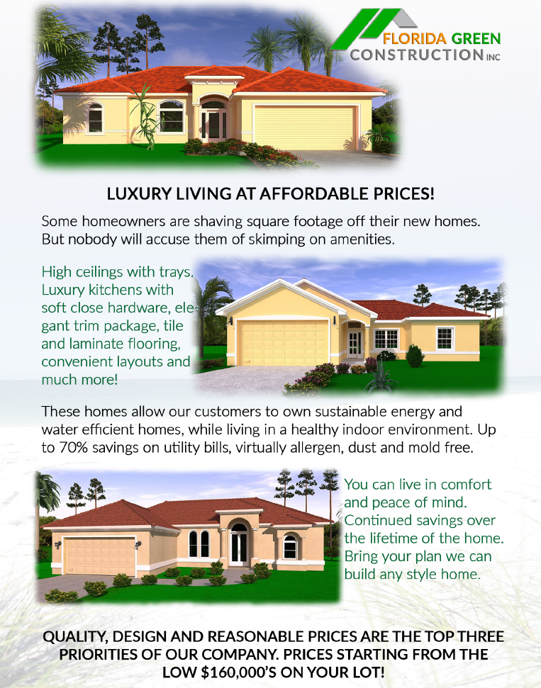 Florida Green Construction model homes