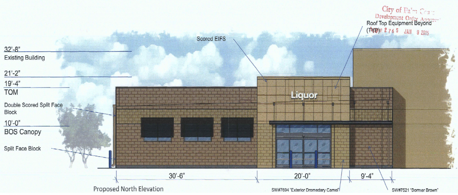 Walmart plans liquor store addition to palm coast store for Store building design