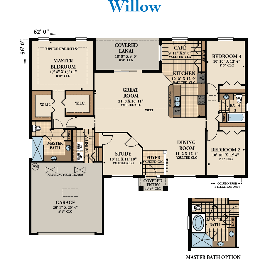 Seagate Homes Willow floor plan